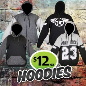 Hoodies just $12 each