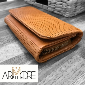 Simmone Soft Leather Perforated Detail wallet