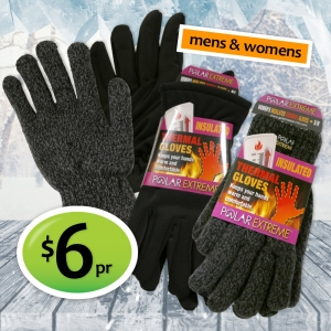 Thermal Gloves just $6 a pair