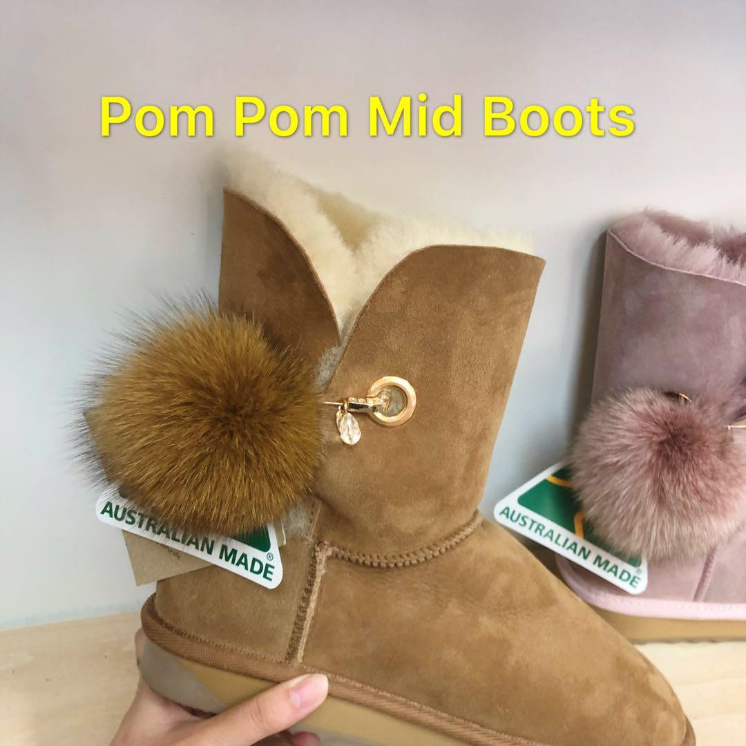 e08c9243d86 Pom Pom Mid Ugg Boots