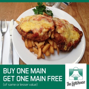Buy One Main Meal – Get One Main Meal Free - Lighthouse Hotel