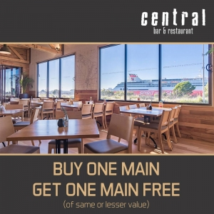 Buy One Main Meal – Get One Main Meal Free - Central Bar Restaurant