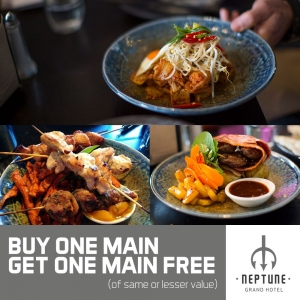 Buy One Main Meal – Get One Main Meal Free - The Neptune Grand