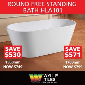 Round Free Standing Bath