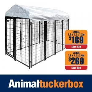Steel Pet Enclosure with Waterproof Cover