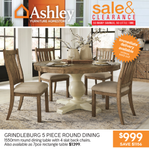 Grindleburg 5 Piece Round Dining Setting