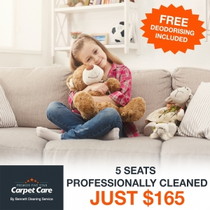 Get 5 seats professionally cleaned for just $165.