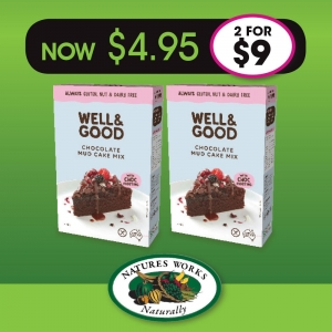 Well & Good Chocolate Mud Cake Mix 475gm