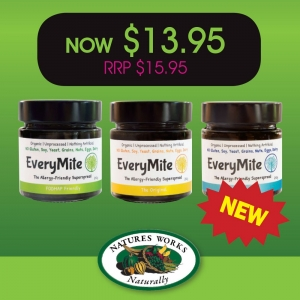 EveryMite 240gm Varieties for $13.95
