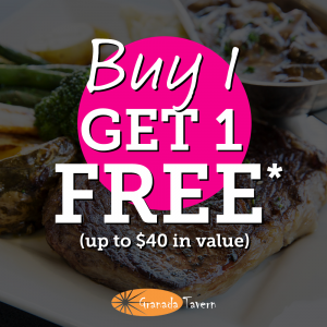 Buy One Main Meal – Get Another Main Meal FREE!