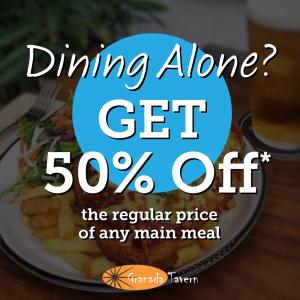 50% off any main course - Granada Tavern