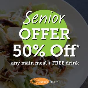 50% Off Senior Meal Offer