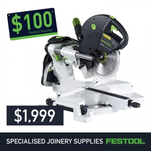 Festool 260mm Slide Compound Mitre Saw KS 120 KAPEX + FREE $100 Voucher*