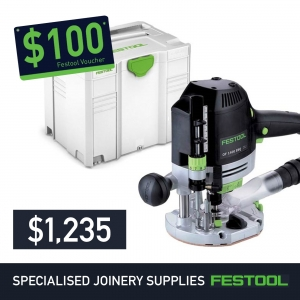 Festool 70mm Plunge Router OF1400 + FREE $100 Voucher*