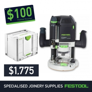 Festool 80mm Plunge Router OF 2200 + FREE $100 Voucher*