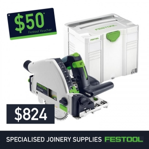 Festool 160mm Cordless Plunge Cut Saw TSC 55 + FREE $50 Voucher*