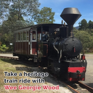 Take a heritage train ride on Wee Georgie Wood