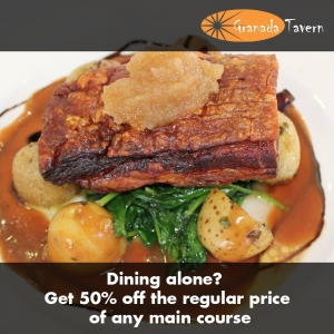 50% off any main course - Granada Tavern