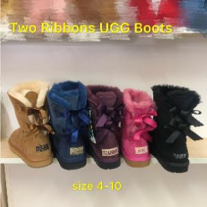 Two Ribbon Sheepskin Mid UGG Boots