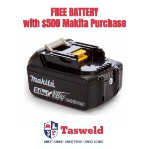 FREE Makita 5.0ah Battery with $500 of Makita purchase