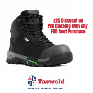 Purchase FXD Workboots for $25 DISCOUNT off FXD Clothing