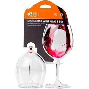 Nesting Red Wine Glass Set Only $20