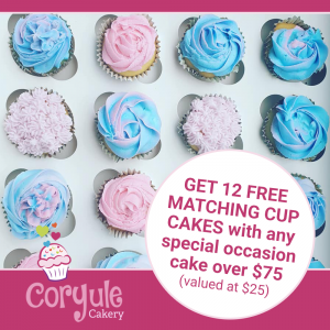 12 Free Cupcakes with Special Occasion Cake Order