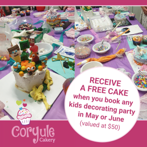 Kids Cake Decorating Party Offer