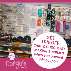 10% Off Cake Decorating & Chocolate Supplies
