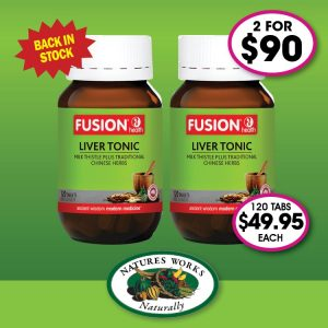 Fusion Health Liver Tonic 120 Tablets