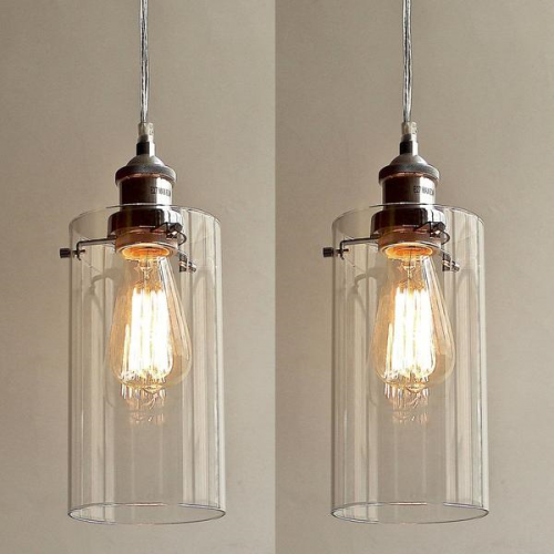 ALLIRA GLASS PENDANT LIGHT 2 PC