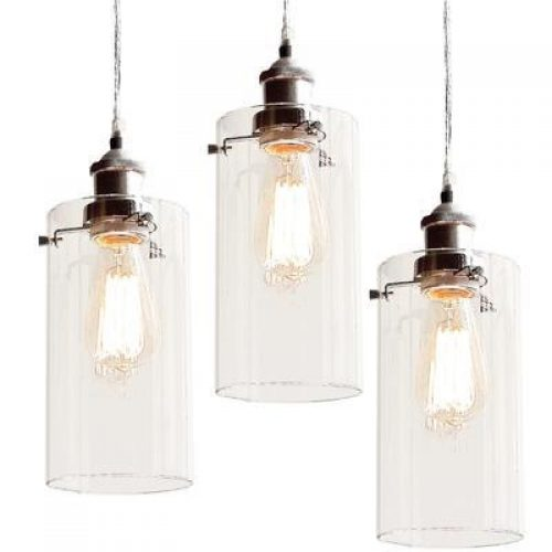 ALLIRA GLASS PENDANT LIGHT 3 PC