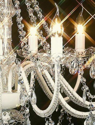 CASSIE CHANDELIER 12 LIGHT GLASS CRYSTALS 2