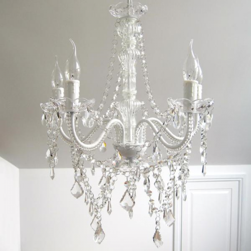 CASSIE CHANDELIER 5 LIGHT CLEAR CRYSTALS