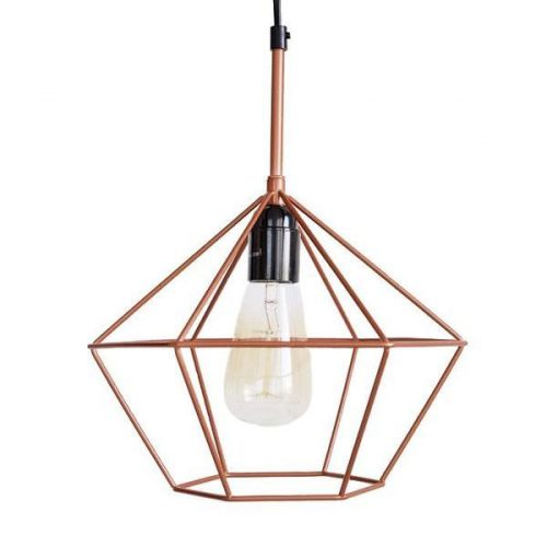 DIAMOND PENDANT LIGHT COPPER 1