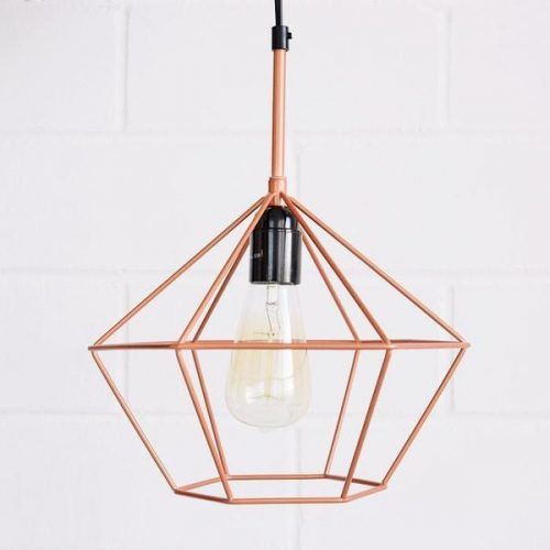 DIAMOND PENDANT LIGHT COPPER 3