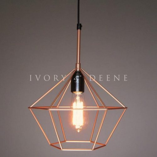 DIAMOND PENDANT LIGHT COPPER