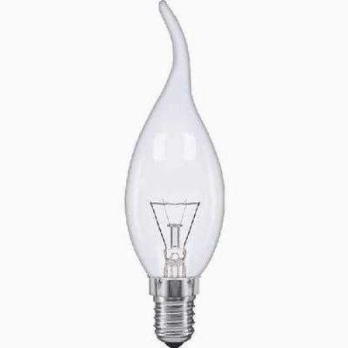 E14 FLAME TIP FANCY CHANDELIER CANDLE GLOBES PACK OF 10 CLEAR 1