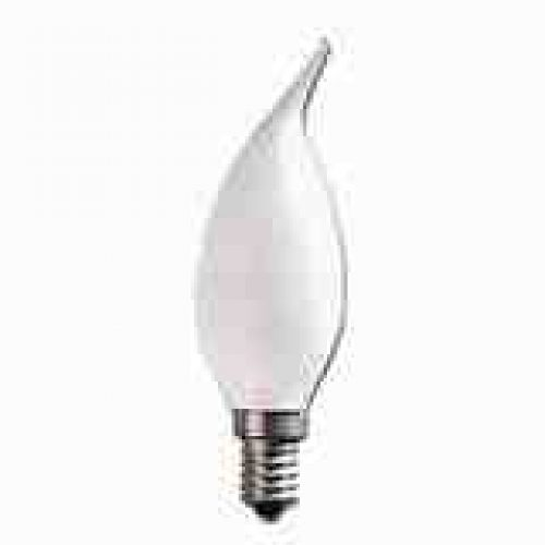 E14 FLAME TIP FANCY CHANDELIER CANDLE GLOBES PACK OF 10 FROSTED 1