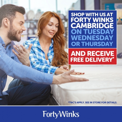 Forty Winks Cambridge Delivery Offer