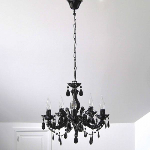 GRACE CHANDELIER 5 LIGHT BLACK 1