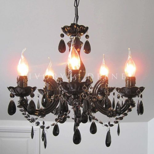 GRACE CHANDELIER 5 LIGHT BLACK 2