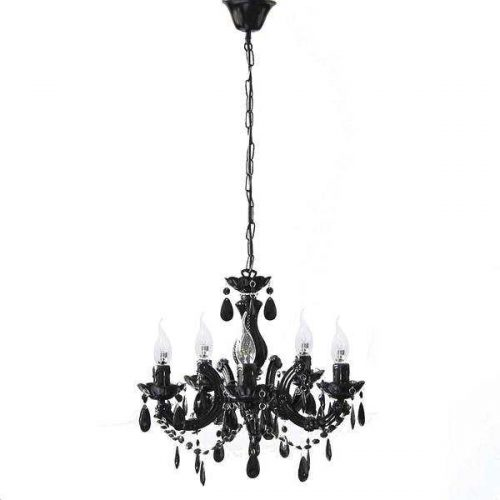 GRACE CHANDELIER 5 LIGHT BLACK