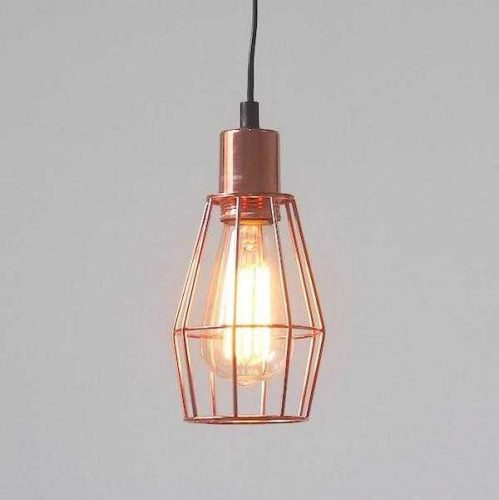 INDUSTRIAL CAGE LIGHT COPPER