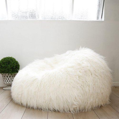 IVD216 cream fur shaggy beanbag 1 1600x1600