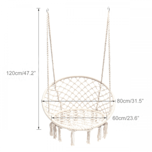 IVD391 macrame hammock chair cream 600x