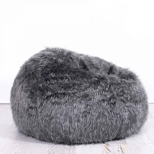 IVD508 charcoal grey fur bean bag polo 1800x1800