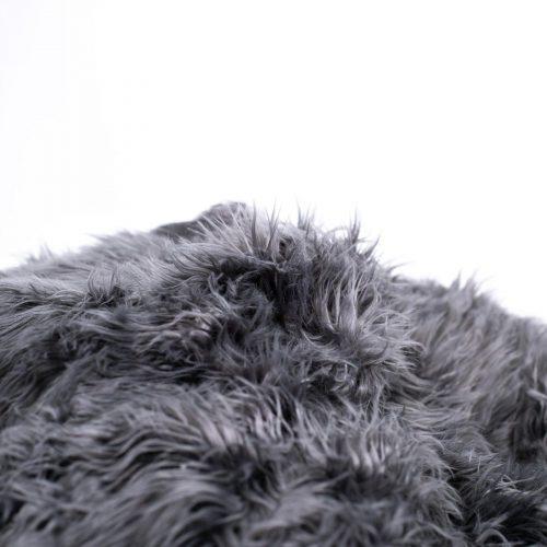 IVD543 charcoal lush fur beanbag detail 1800x1800