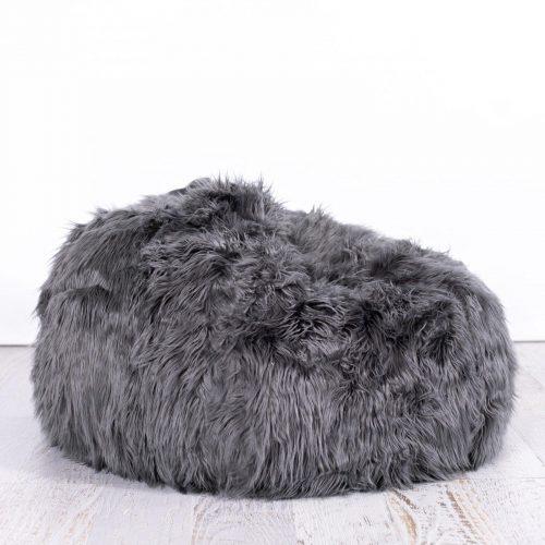 IVD543 charcoal lush fur beanbag 1800x1800