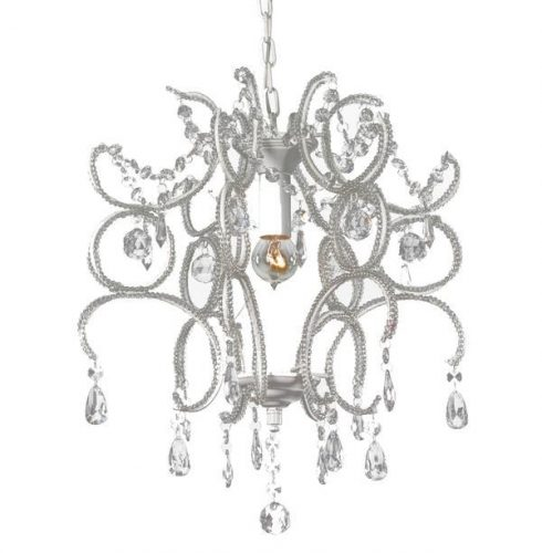JEWEL CHANDELIER 1 LIGHT WHITE